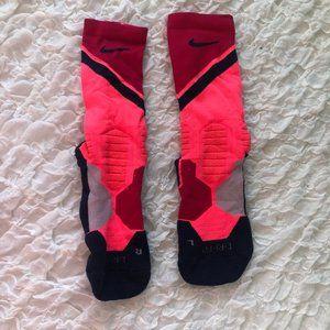 Pink Nike Elites Mid-Calf Socks